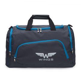 Geanta de voiaj, Wings, TB1006 - 65 cm, Gri/Albastru